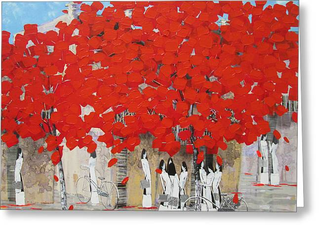 Red Summer Greeting Card