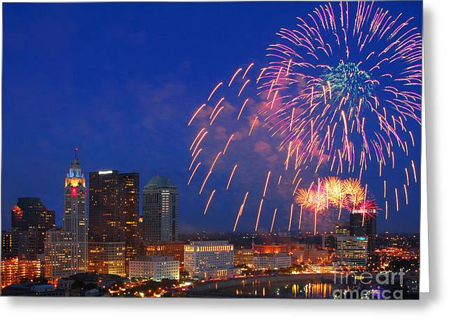 Red White And Boom Photo Greeting Card