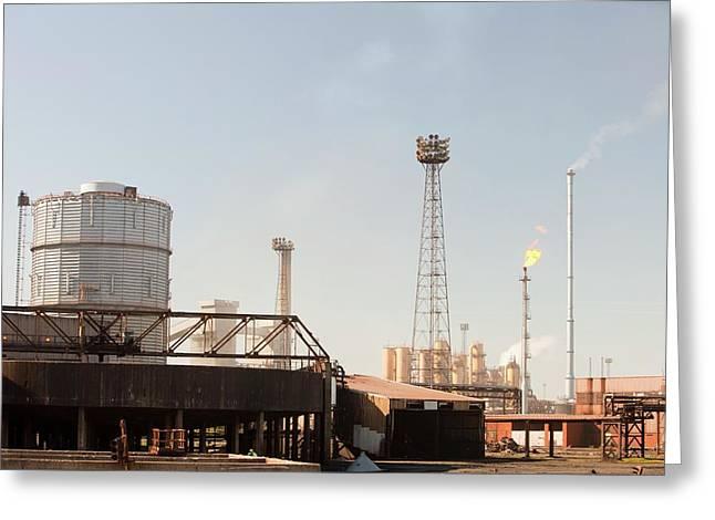 Redcar Steel Works Greeting Card