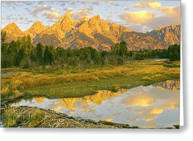 Reflection Of Clouds On Water, Beaver Greeting Card by Panoramic Images