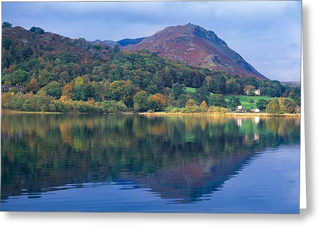 Reflection Of Hills In A Lake Greeting Card