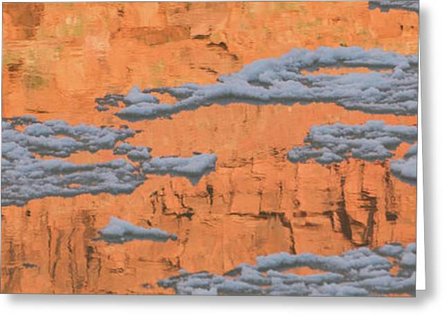 Reflection Of Sandstone Wall In Water Greeting Card by Panoramic Images