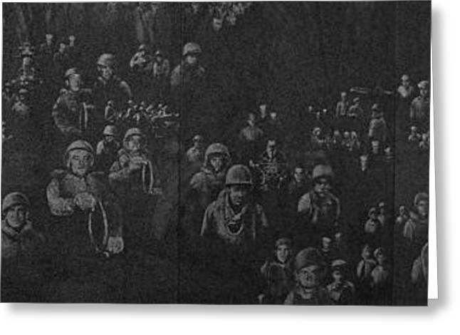 Reflection Of Soldiers Statues Greeting Card by Panoramic Images