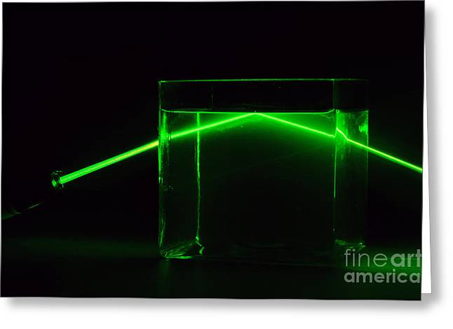 Refraction And Total Internal Reflection Greeting Card by GIPhotoStock