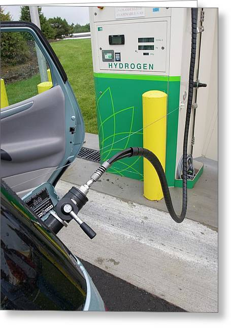 Refuelling Hydrogen-powered Vehicles Greeting Card by Jim West