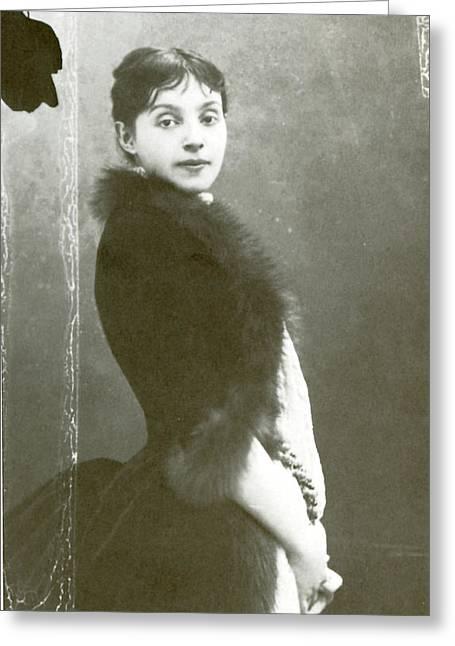Rejane (1857-1920), Nee Gabrielle Reju Greeting Card by Granger