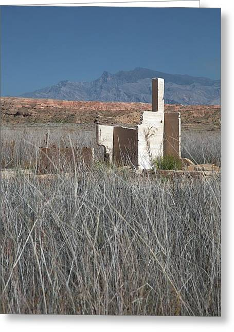 Remains Of House Flooded By Hoover Dam Greeting Card