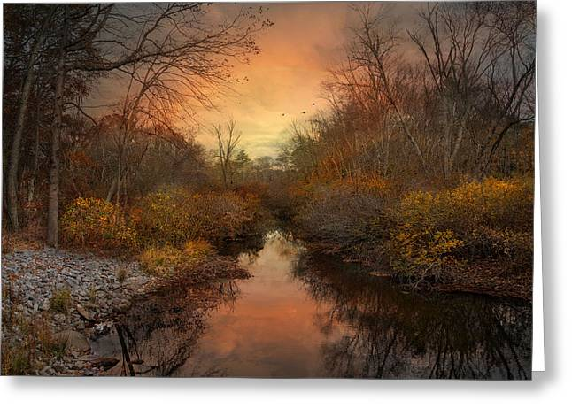 Greeting Card featuring the photograph Remains Of The Day by Robin-Lee Vieira