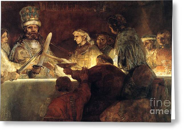 Rembrandt Smaller Version Greeting Card by Rembrandt