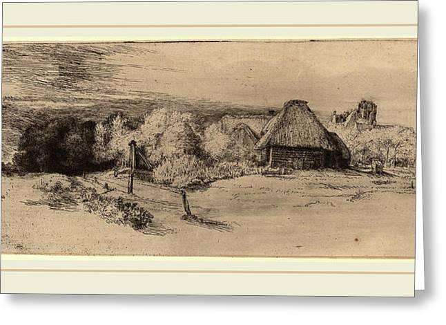 Rembrandt Van Rijn Dutch, 1606-1669, Landscape With Trees Greeting Card