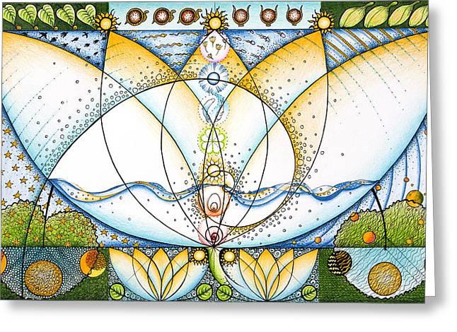 Blue Lotus Greeting Card by Ida  Novotna