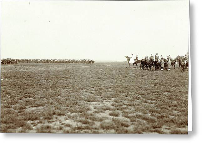 Renkumer Heath, Army Racing At Inauguration Celebrations Greeting Card