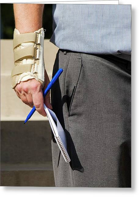 Repetitive Strain Injury Greeting Card