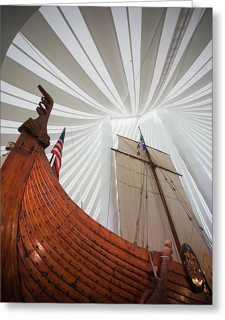 Replica Of Viking Ship, Heritage Greeting Card