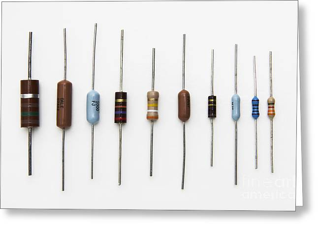 Resistors Greeting Card by GIPhotoStock
