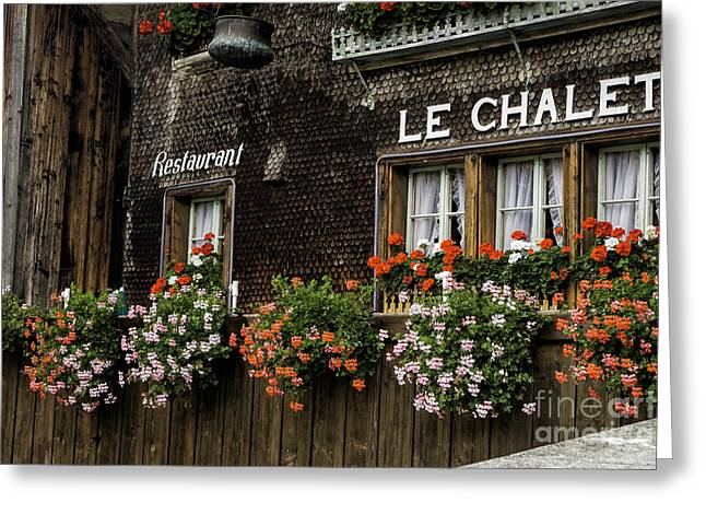 Restaurant Le Chalet Greeting Card by Timothy Hacker