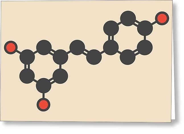 Resveratrol Molecule Greeting Card by Molekuul