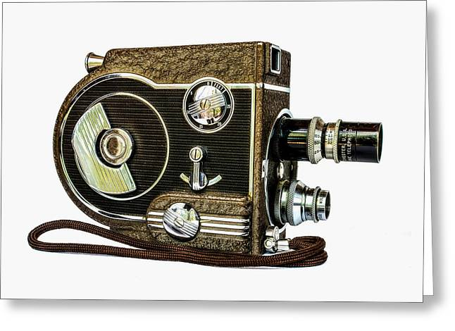 Revere 8 Movie Camera Greeting Card by Jon Woodhams