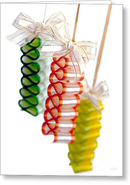 Ribbon Candy Portrait Greeting Card by Iris Richardson