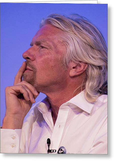 Richard Branson. Greeting Card by Mark Williamson