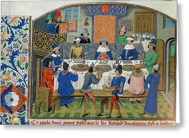 Richard II Dines With Dukes Greeting Card
