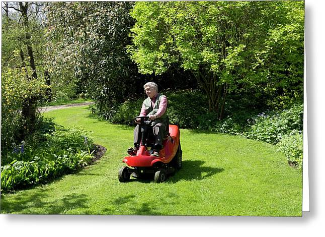 Ride-on Lawn Mower Greeting Card