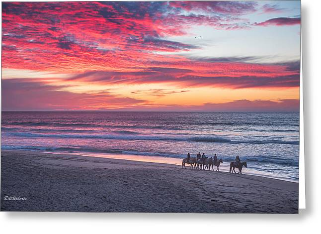Riding In The Sunset Greeting Card by Bill Roberts
