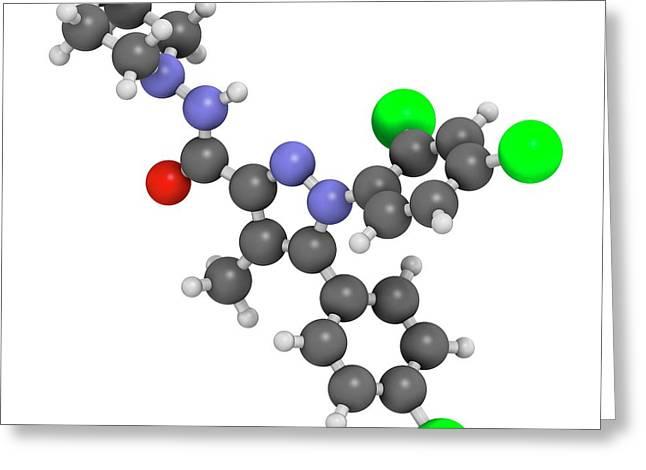 Rimonabant Obesity Drug Molecule Greeting Card