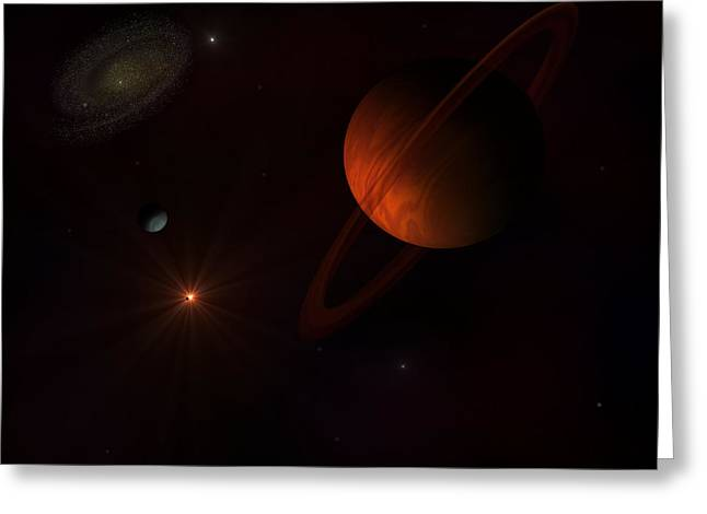 Rings  Greeting Card by Ricky Haug