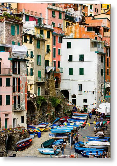 Greeting Card featuring the photograph Riomaggiore - Cinque Terre Italy by Carl Amoth