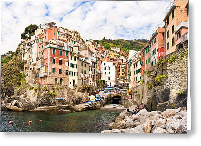 Riomaggiore Italy Greeting Card by Carl Amoth