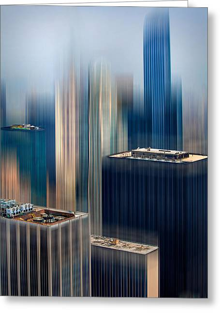Rising Metropolis Greeting Card by Az Jackson