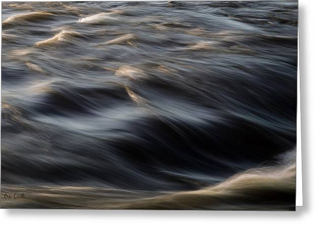 River Flow Greeting Card by Bob Orsillo