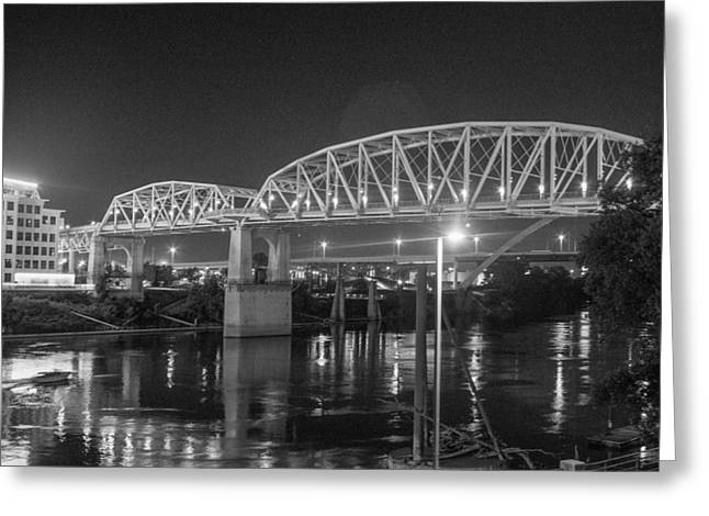 River Reflections Greeting Card by Robert Hebert