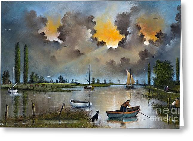 River Yare On The Broads Greeting Card