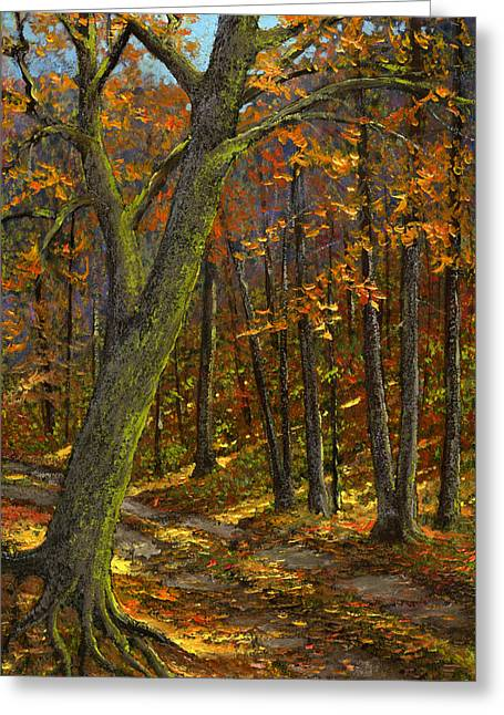 Road In The Woods Greeting Card by Frank Wilson