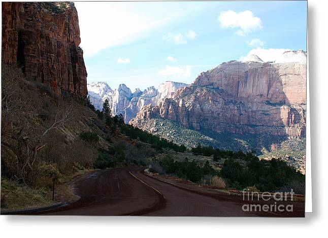 Road Through Zion National Park Greeting Card