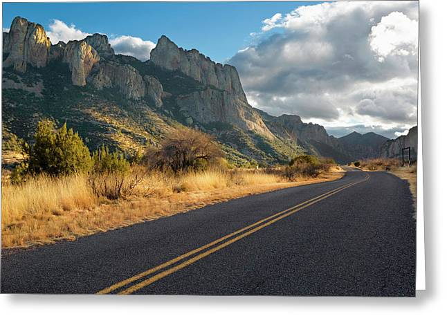 Road To Portal, Arizona Greeting Card by Susan Degginger