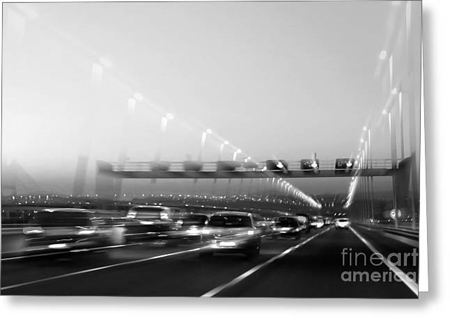 Road Traffic Greeting Card by Carlos Caetano
