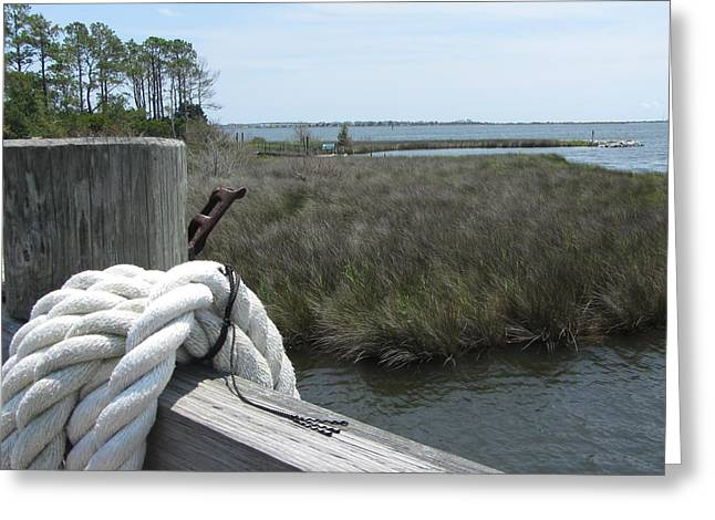 Greeting Card featuring the photograph Roanoke Rope 2 by Cathy Lindsey