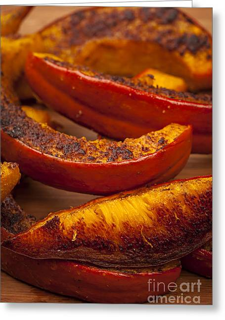 Roasted Pumpkin Greeting Card by Elena Elisseeva