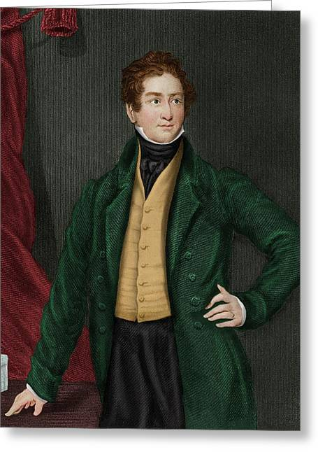 Robert Peel Greeting Card by Maria Platt-evans