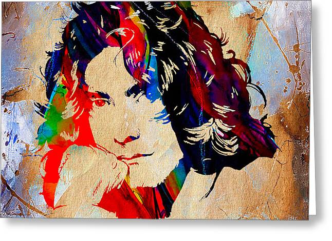 Robert Plant Collection Greeting Card by Marvin Blaine