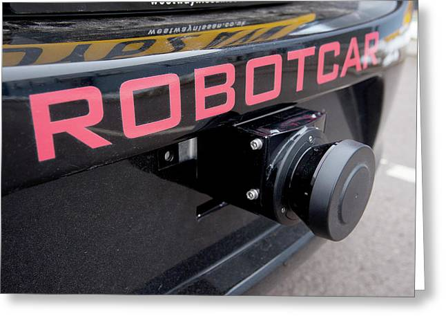 Robotcar Autonomous Car Greeting Card