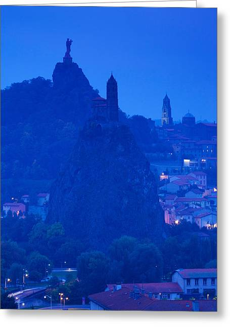 Rocher Corneille With Saint Michel Greeting Card by Panoramic Images