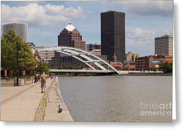 Rochester Skyline Greeting Card by William Norton