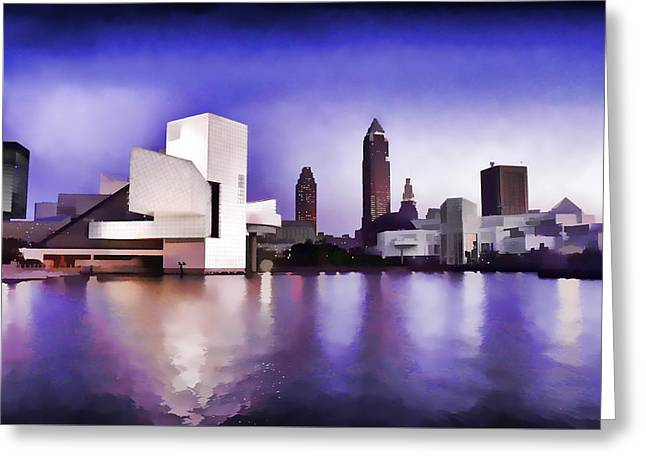 Greeting Card featuring the photograph Rock And Roll Hall Of Fame - Cleveland Ohio - 3 by Mark Madere