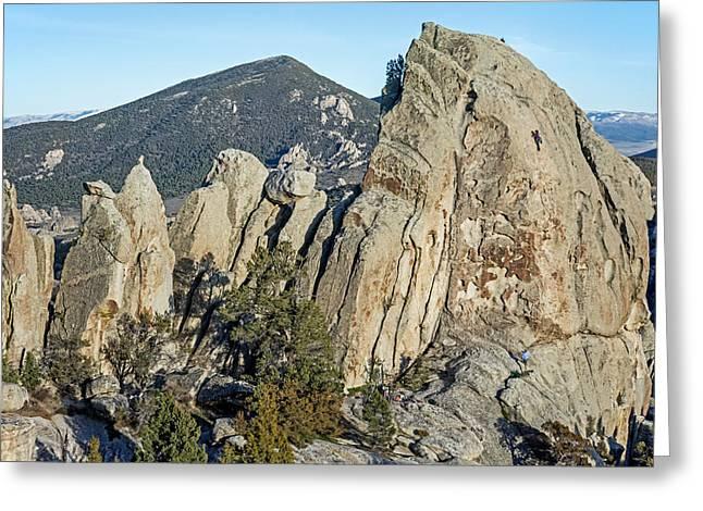 Rock Climber Greeting Card by Elijah Weber