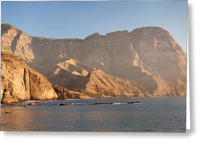 Rock Formations At Coast, El Dedo De Greeting Card by Panoramic Images
