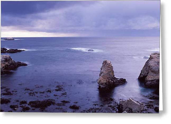 Rock Formations At The Coast, Big Sur Greeting Card